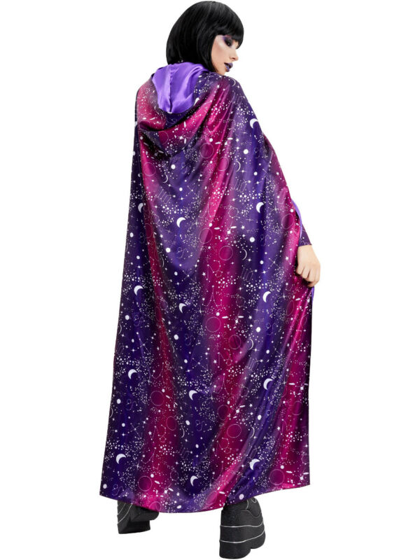 Womens Galactic Witch Galaxy Cape Costume Accessory