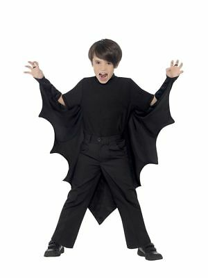 Boy's Kids Halloween Fancy Dress Costume Vampire Bat Wings Parties School Disco (Bat Boy Kostüme)