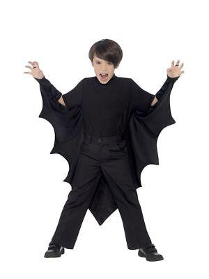 Boy's Kids Halloween Fancy Dress Costume Vampire Bat Wings Parties School - Kostüm Vampir Disco