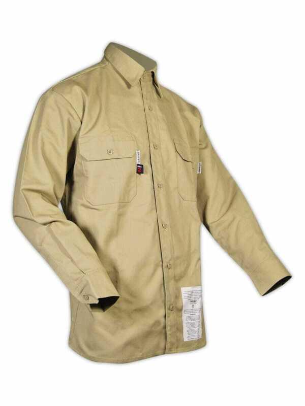 Magid Dual-Hazard 7.0 oz. FR 88/12 Khaki Work Shirt
