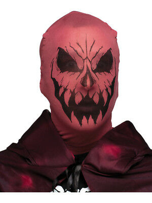 Scary Evil Devil Demon Stocking Fabric Mask Costume Accessory - Scary Demon