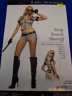 Strip Search Sheriff Police Woman Cop Dress Up Halloween Sexy Adult