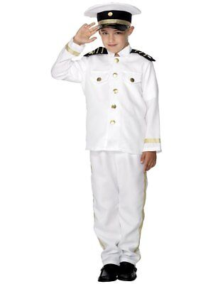 Smiffys Captain Nautical Sea Boat Dress Up Child Boys Halloween Costume 30025 - Marine Costume For Boys