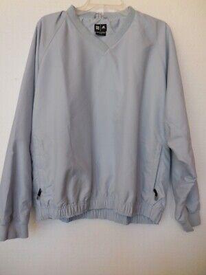 Adidas Light Blue V Neck ClimaShell V Neck Pullover Jacket Size Large Preowned