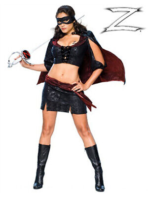 Women's Lady Zorro Black Bandit Costume - Zorro Costume Women