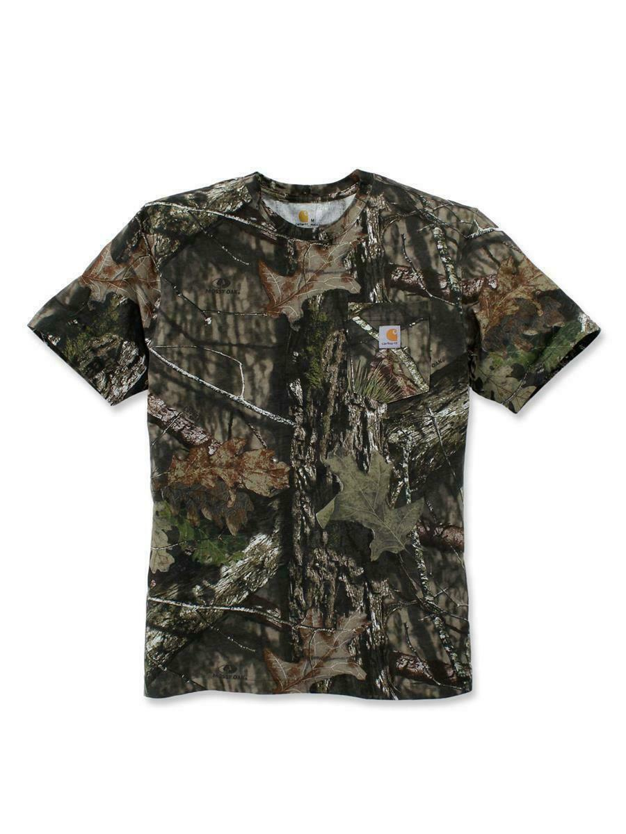 Carhartt Herren Detroit Born Logo T-Shirt Kurzarm Rundhals Tee