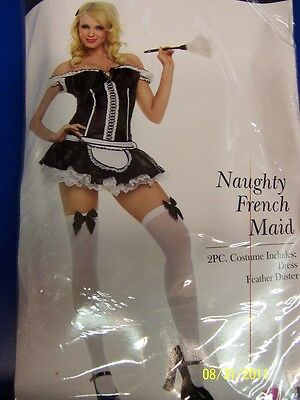 Naughty Dress Up Costumes (Naughty French Maid Chamber Upstairs Fancy Dress Up Halloween Sexy Adult)