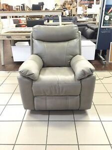 100% LEATHER RECLINER (GREY) Logan Central Logan Area Preview