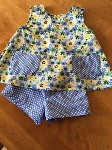 Dress and Shorts (homemade) - 1yr size