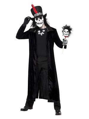 SMIFFY 30403 Voodoo Mann Zombie Untoter Tag der Toten Halloween Herren Kostüm (Zombie Mann Kostüm)