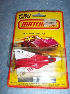 1980 Matchbox Lesney No. 27 - Swing Wing Jet, Diecast Metal Airplane