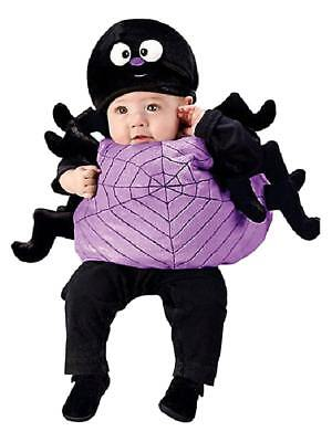 Infant Girls Plush Purple Silly Spider Costume with Vest & Hat (Spider Girl Baby Costume)