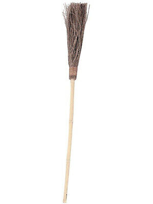Classic Scary Wooden Witch Broom Halloween Costume -