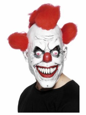 ke Killer Horror Clown Latex mit Haar Halloween Kostüm  (3/4 Halloween-maske)