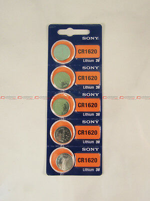 5 PCS SONY CR1620 1620 LITHIUM 3V BUTTON COIN CELL WATCH BATTERIES VALUE PACK