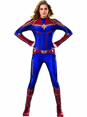 Womens Captain Marvel Secret Wishes Hero Suit Costume - Officially Licensed](Marvel Womens Costume)