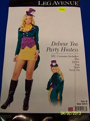 5 pc. Deluxe Tea Party Hostess Mad Hatter Dress Up Halloween Sexy Adult - Deluxe Tea Party Hatter Costume