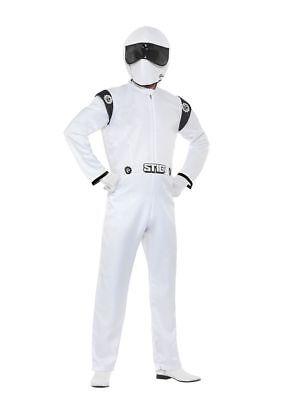 Men's Top Gear The Stig Fancy Dress Racing Driver Jumpsuit Motorsport Fun (Stig Kostüme)