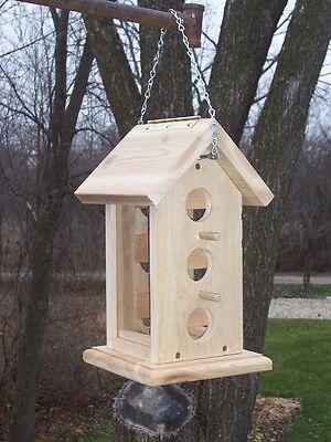 Handmade Large Hanging bird seed feeder