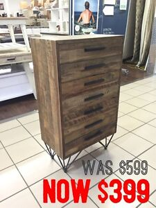 INDUSTRIAL 7 DRAWERS TALLBOY Logan Central Logan Area Preview