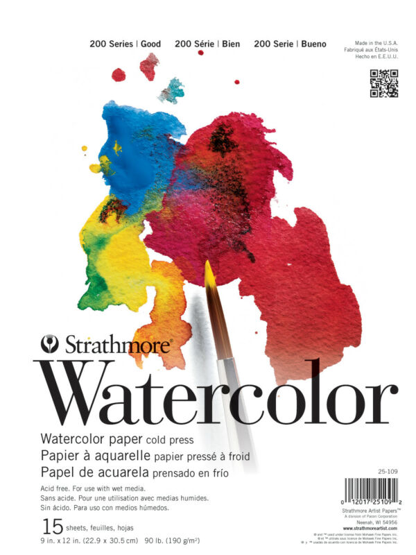 "Strathmore Student Watercolor Pad 9""X12""-15 Sheets"