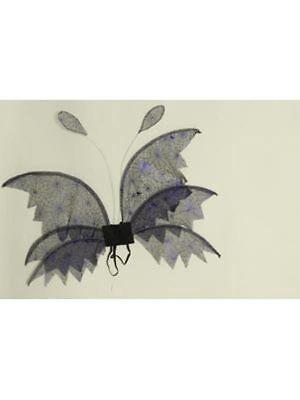 Spinnennetz-Flügel, 88X50cm Gruselkostüm Halloween ()