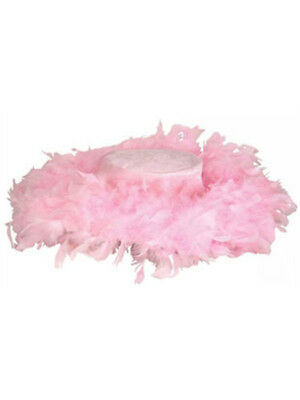 Pimp Hat (New Pimp and Hoe Costume Accessory Pink Feather Boa)