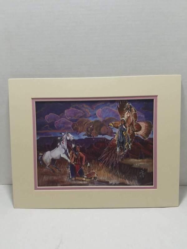 Remember Us Lorenzo Black Lance Buffalo Thunder Bird Fine Art Print