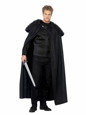 Smiffys Dark Barbarian Night Watch Jon Snow Adult Mens Halloween Costume 43721