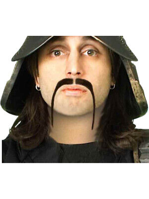 New Samurai Warrior Thin Black Ninja Costume Moustache - Samurai Warrior Costume