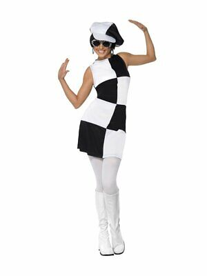 Smiffys 1960er Jahre Gogo Party Girl Mod Kleid Erwachsene Damen Halloween Kostüm ()