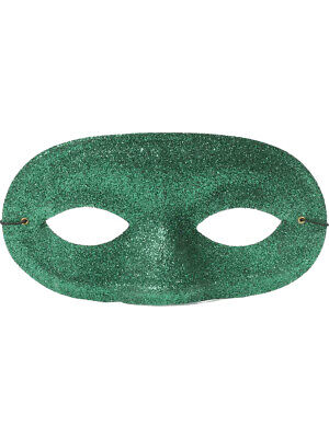 Adult or Child's Costume Accessory Green Glitter Domino Eye Mask](Domino Masquerade Costume)