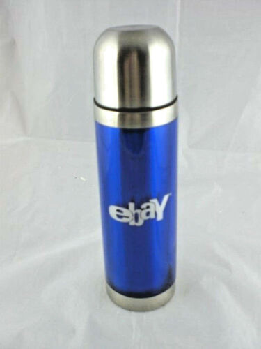 Cobalt Ebay Branded Swag Thermal Stainless Steel Vacuum Bottle 2 Cup NEW 16 oz