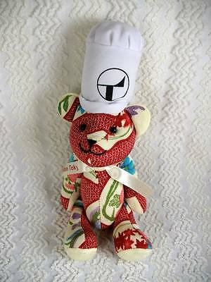 Hilton Hotel Tokyo Japan Jointed Teddy Bear W Chefs Hat 11  Beautiful Fabric