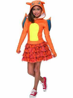 Girls Pokemon Charizard Costume Hoodie Dress - Charizard Pokemon Costume