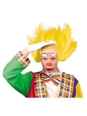 Perücke Clown gelb Halbglatze Karneval Fasching Kindergeburtstag ()
