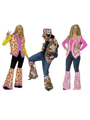 70s Weste Flower Power Hippie Karneval Kostüm (Western Kostüme Accessoires)
