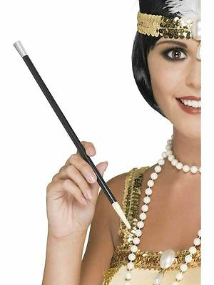 Long Black Cigarette Holder 20s Flapper Gangster Gatsby Girl Ladies Fancy Dress