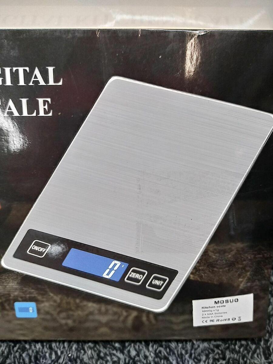 Küchenwaage Digital mit USB-Ladekabel, Digitale Küchenwaage Digitalwaage H