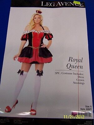 3 pc. Royal Queen of Hearts Alice Wonderland Dress Up Halloween Adult Costume
