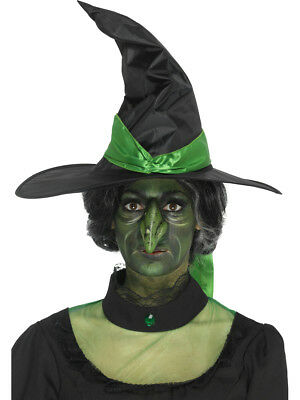 Foam Latex Green Witch Nose Prosthetic Halloween Costume Accessory with Adhesive](Latex Halloween Prosthetics)