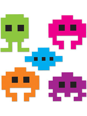 Set Of Mini 80's Icon Videogame 8-Bit Character Cutouts Party Decoration](80's Halloween Party Decorations)