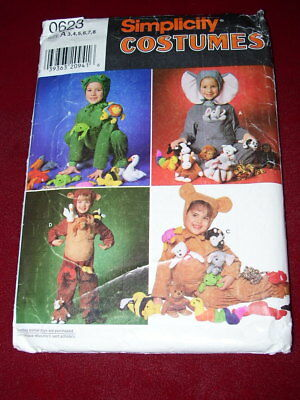 🎃SIMPLICITY #0623 - CHILDS FROG - MOUSE - GORILLA COSTUME w/POUCH PATTERN 3-8FF - Youth Gorilla Costume