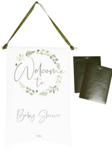 Botanical Baby Customisable Welcome Sign, Baby Shower Accessories, Natural theme