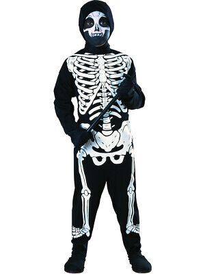Skeleton Costumes For Boys (Child's Haunted Skeleton Costume Boys or Girls Small)