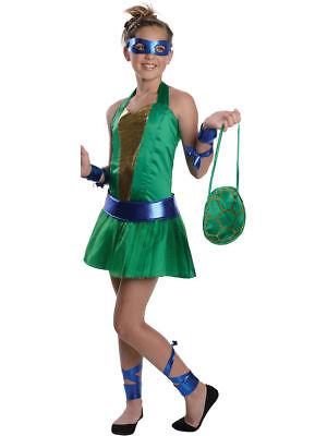 Rubie's Girls Tween Teenage Mutant Ninja Turtles Leonardo Costume MEDIUM - Tween Ninja Turtle Costume