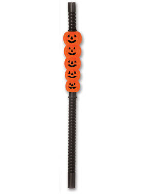 4 Count Jack-O-Lantern Straws Pumpkins Halloween Decoration