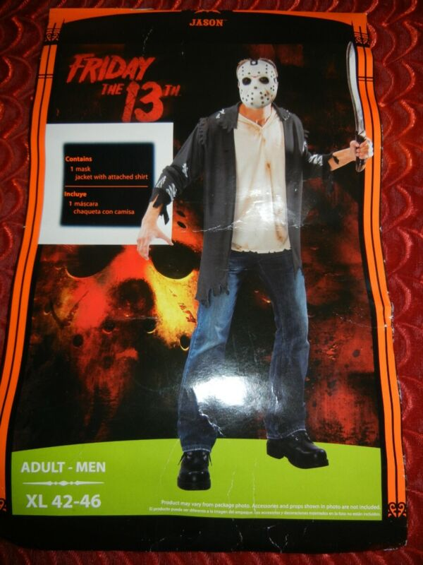 JASON VOORHEES FRIDAY the 13th HALLOWEEN COSTUME - ADULT - XL