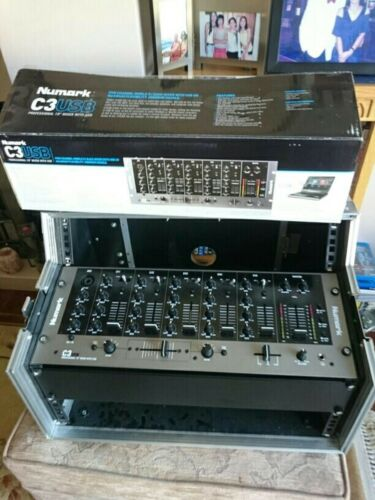 "Numark C3USB 19"" DJ Mixer With CD Flight Case No CD Player"