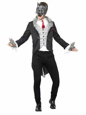 Smiffys Big Bad Wolf Deluxe Animals Scary Adult Mens Halloween Costume 44395 ()